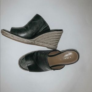 coach leather shoes (wedges)
